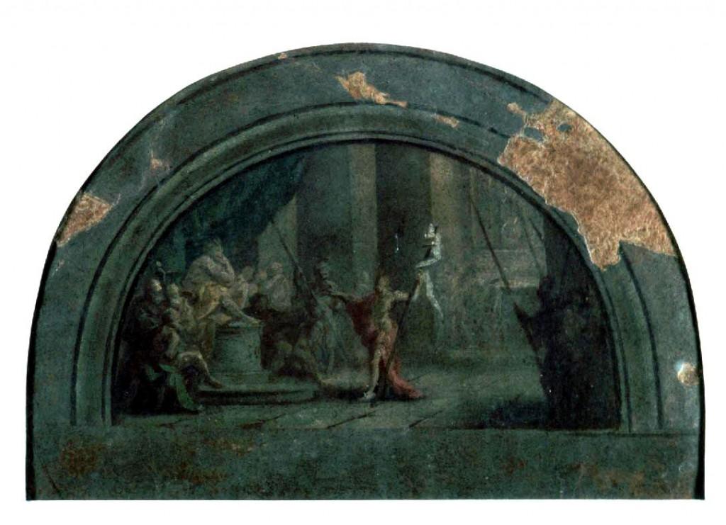 Bozzetto Corvi con S. Giovanni Battista di fronte ad Erode