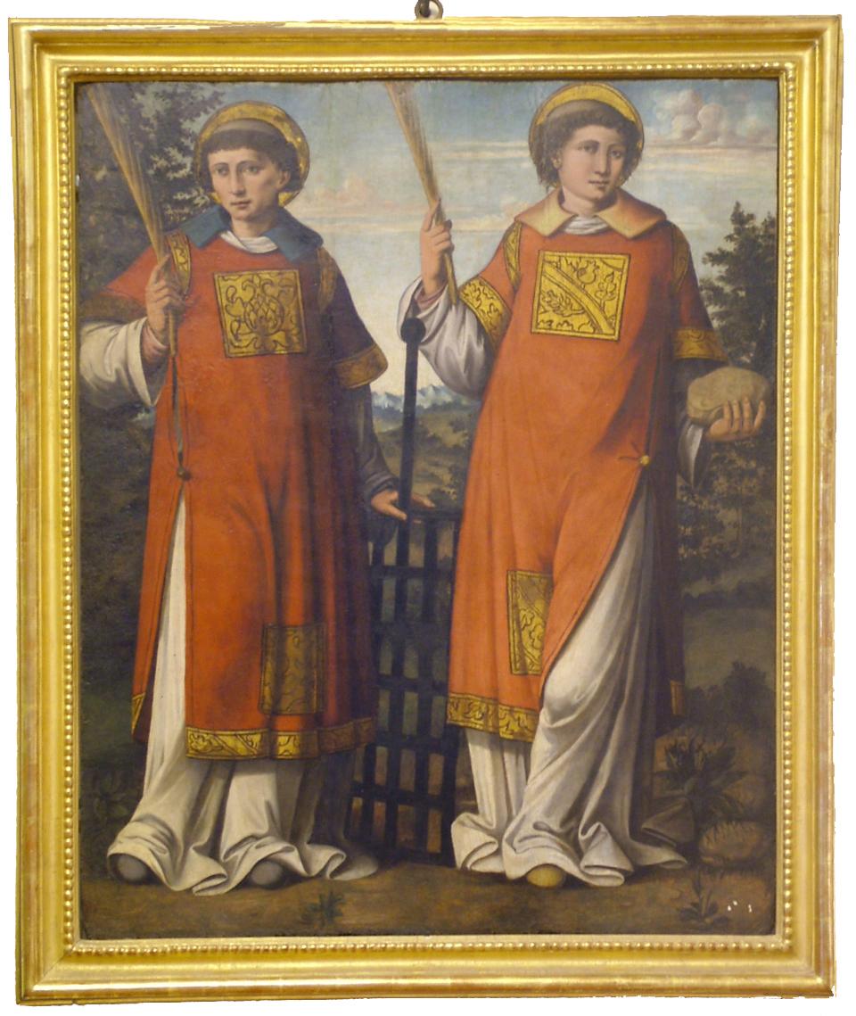 Opera che raffigura i Santi Stefano e Lorenzo